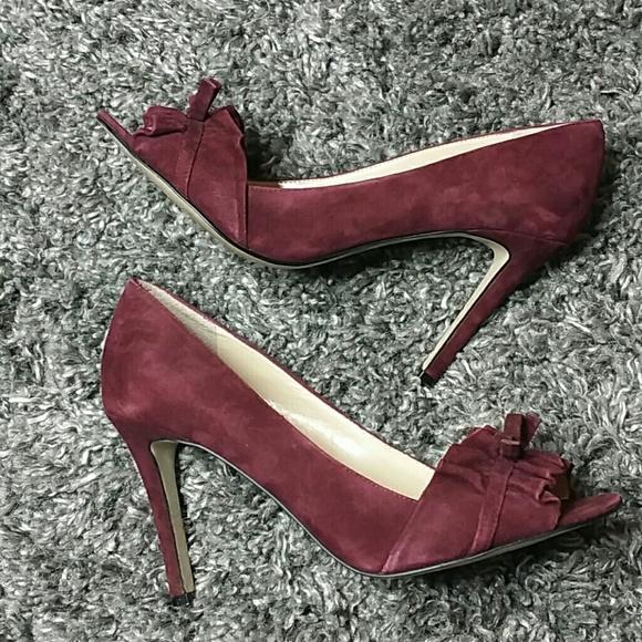 37e67354c55 Enzo Angiolini burgandy leather heels 9m